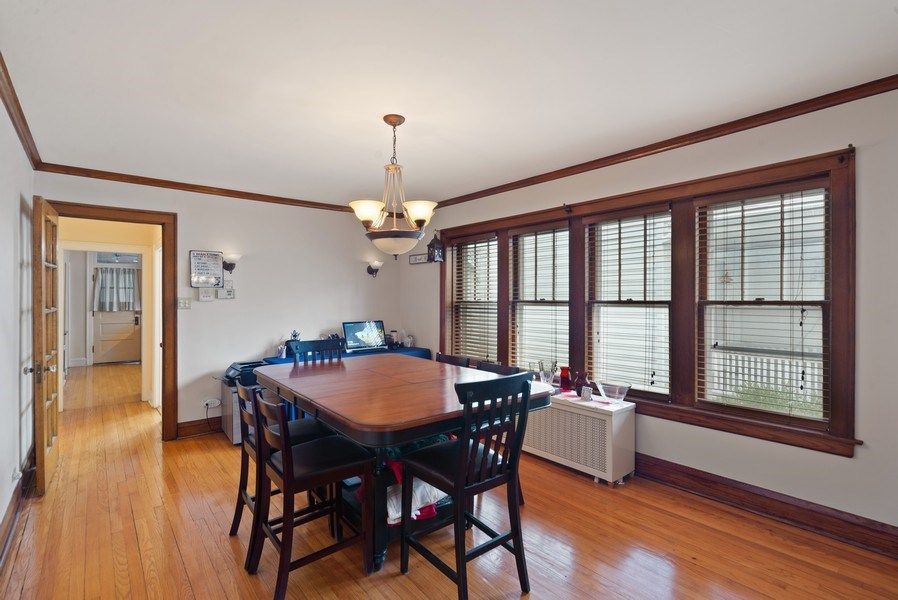 Real Estate Photography - 4042 N Springfield, Chicago, IL, 60618 - Unit 1 Dining Room