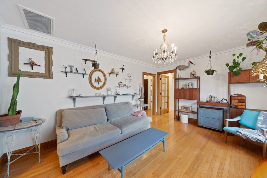 Real Estate Photography - 4042 N Springfield, Chicago, IL, 60618 - Unit 2 Dining Room (currently used as family room)