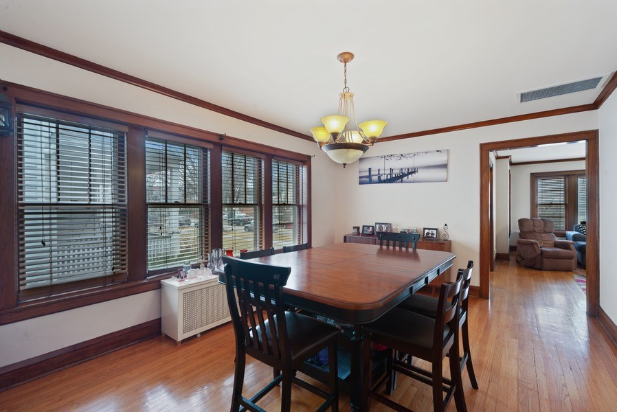 Real Estate Photography - 4042 N Springfield, Chicago, IL, 60618 - Unit 1 Dining Room View 2