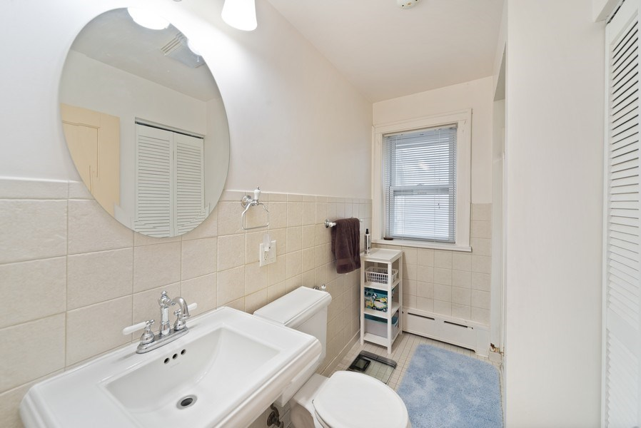 Real Estate Photography - 4042 N Springfield, Chicago, IL, 60618 - Unit 1 Bathroom 1