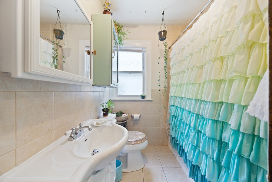 Real Estate Photography - 4042 N Springfield, Chicago, IL, 60618 - Unit 2 Bathroom