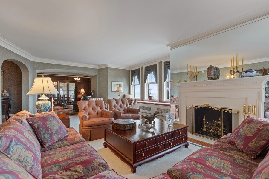 Real Estate Photography - 3300 N. Lake Shore Drive, Unit #6AB, Chicago, IL, 60657 - Living Room