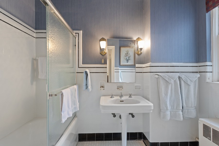 Real Estate Photography - 3300 N. Lake Shore Drive, Unit #6AB, Chicago, IL, 60657 - Bath adjoining Fourth Bedroom/Exercise Room