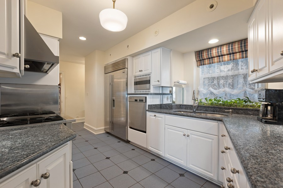 Real Estate Photography - 3300 N. Lake Shore Drive, Unit #6AB, Chicago, IL, 60657 - Kitchen