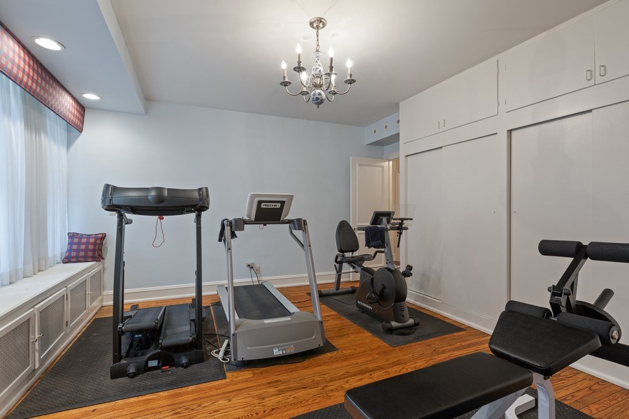 Real Estate Photography - 3300 N. Lake Shore Drive, Unit #6AB, Chicago, IL, 60657 - Fourth Bedroom/Exercise Room