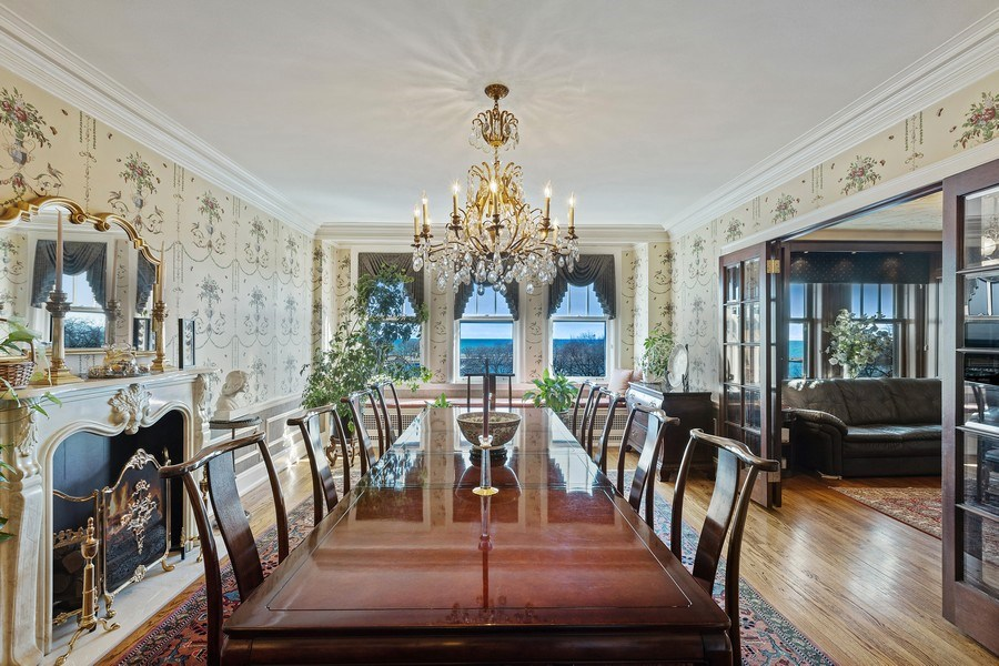 Real Estate Photography - 3300 N. Lake Shore Drive, Unit #6AB, Chicago, IL, 60657 - Dining Room