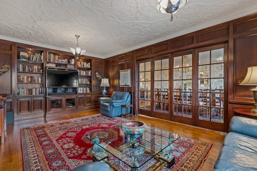 Real Estate Photography - 3300 N. Lake Shore Drive, Unit #6AB, Chicago, IL, 60657 - Library/Family Room