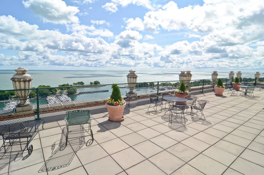 Real Estate Photography - 3300 N. Lake Shore Drive, Unit #6AB, Chicago, IL, 60657 - Roof Deck