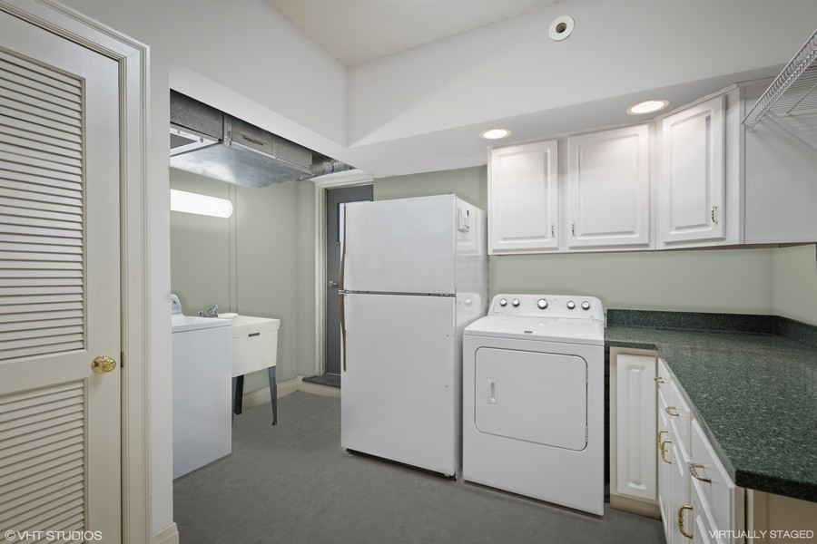 Real Estate Photography - 3300 N. Lake Shore Drive, Unit #6AB, Chicago, IL, 60657 - Laundry (virtually staged)