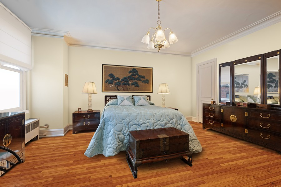 Real Estate Photography - 3300 N. Lake Shore Drive, Unit #6AB, Chicago, IL, 60657 - Third Bedroom (virtually staged)