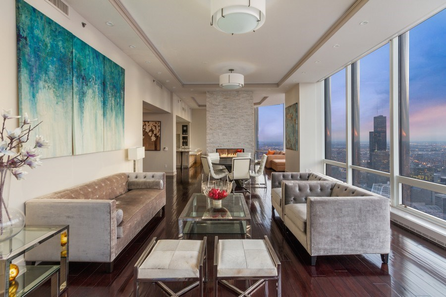 Real Estate Photography - 401 N Wabash unit 86B, Chicago, IL, 60611 - Living Room