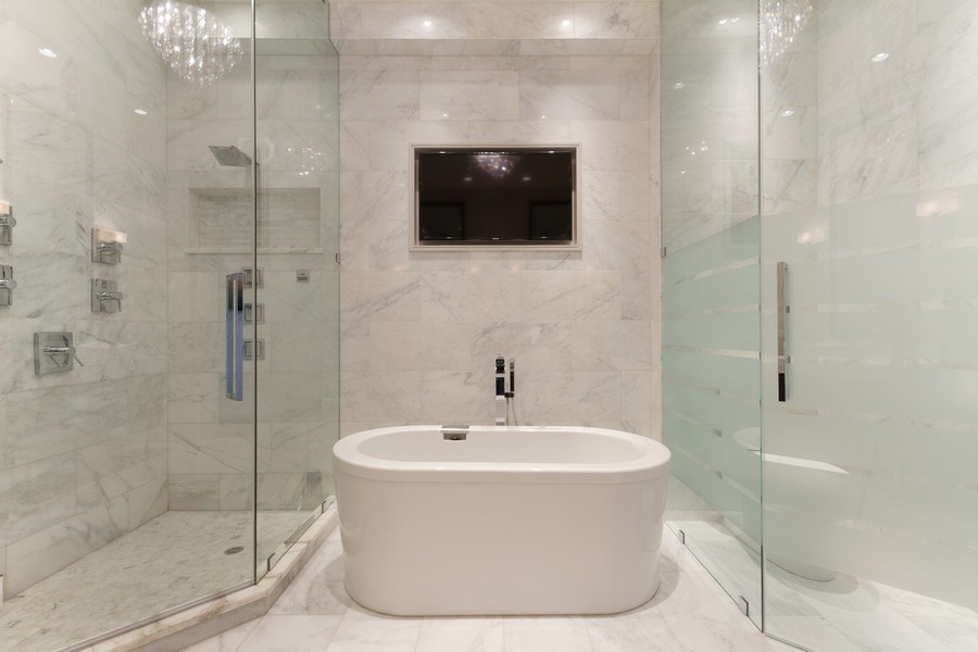 Real Estate Photography - 401 N Wabash unit 86B, Chicago, IL, 60611 - Master Bathroom