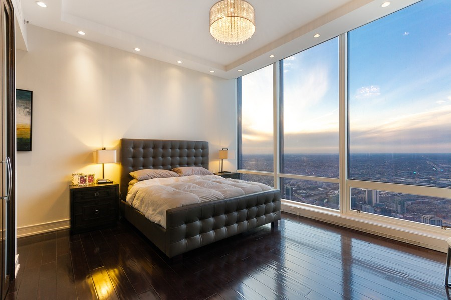 Real Estate Photography - 401 N Wabash unit 86B, Chicago, IL, 60611 - Master Bedroom