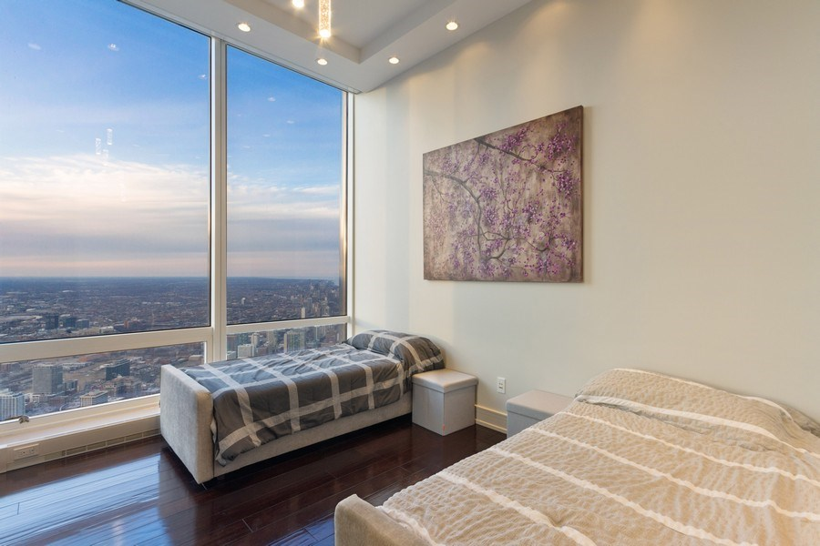 Real Estate Photography - 401 N Wabash unit 86B, Chicago, IL, 60611 - Bedroom