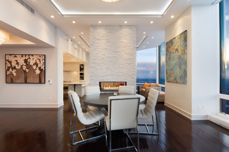Real Estate Photography - 401 N Wabash unit 86B, Chicago, IL, 60611 - Dining Room