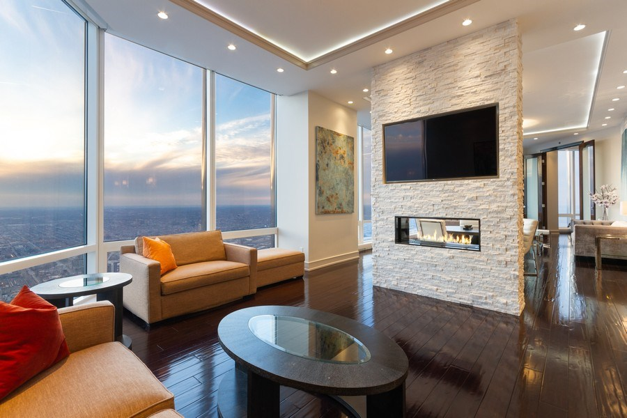 Real Estate Photography - 401 N Wabash unit 86B, Chicago, IL, 60611 - Family Room