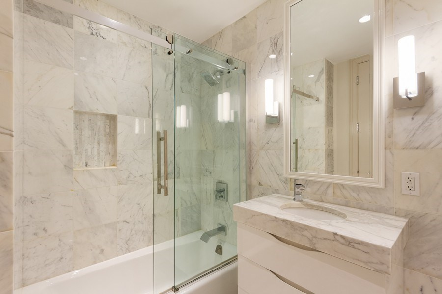 Real Estate Photography - 401 N Wabash unit 86B, Chicago, IL, 60611 - 2nd Bathroom