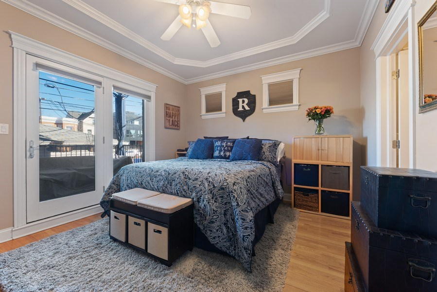 Real Estate Photography - 3731 N. Clifton Ave., #1, Chicago, IL, 60613 - Master Bedroom