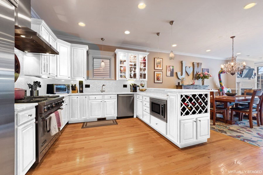Real Estate Photography - 3731 N. Clifton Ave., #1, Chicago, IL, 60613 - Kitchen