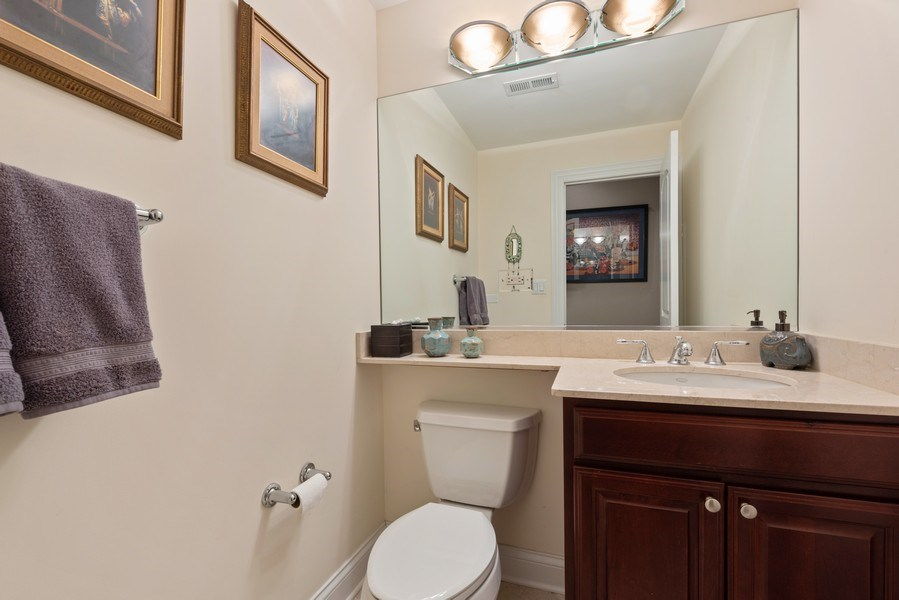 Real Estate Photography - 3731 N. Clifton Ave., #1, Chicago, IL, 60613 - Lower Level 1/2 Bath