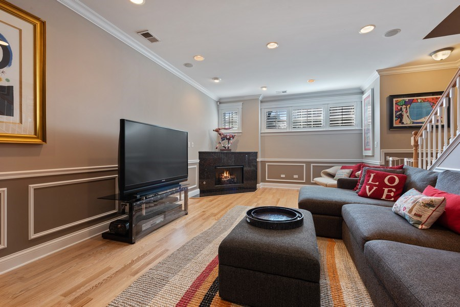 Real Estate Photography - 3731 N. Clifton Ave., #1, Chicago, IL, 60613 - Family Room