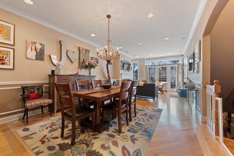 Real Estate Photography - 3731 N. Clifton Ave., #1, Chicago, IL, 60613 - Dining Area