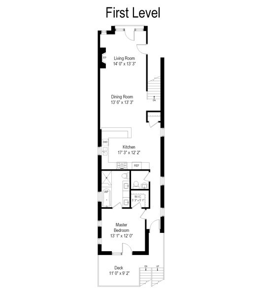 Real Estate Photography - 3731 N. Clifton Ave., #1, Chicago, IL, 60613 - Floor Plan