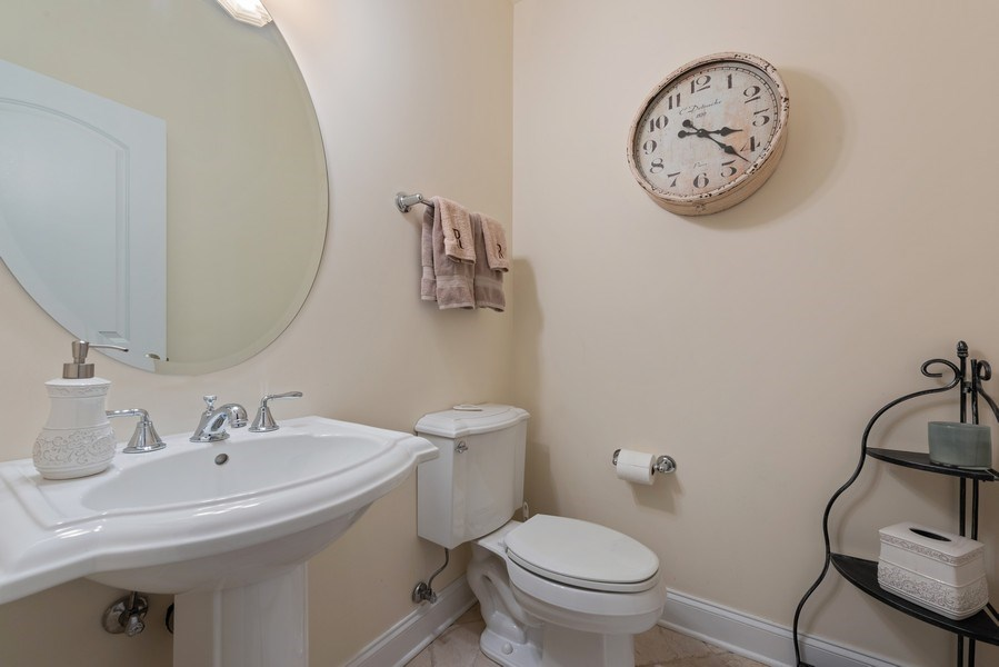 Real Estate Photography - 3731 N. Clifton Ave., #1, Chicago, IL, 60613 - Main Floor 1/2 bath