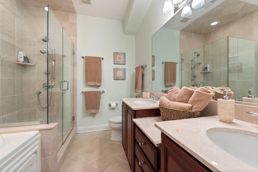 Real Estate Photography - 3731 N. Clifton Ave., #1, Chicago, IL, 60613 - 2nd Bathroom