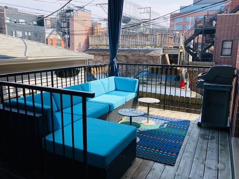 Real Estate Photography - 3731 N. Clifton Ave., #1, Chicago, IL, 60613 - Deck