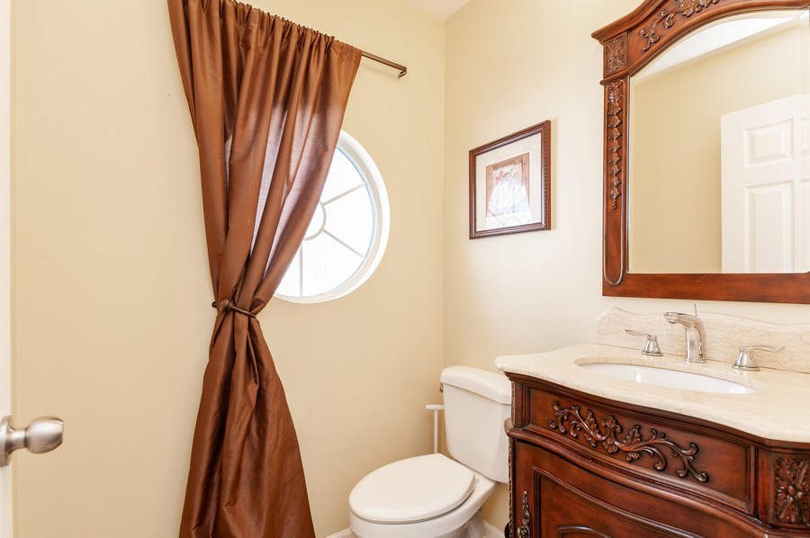 Real Estate Photography - 1068 Talbot Ln, Grayslake, IL, 60030 - Powder Room