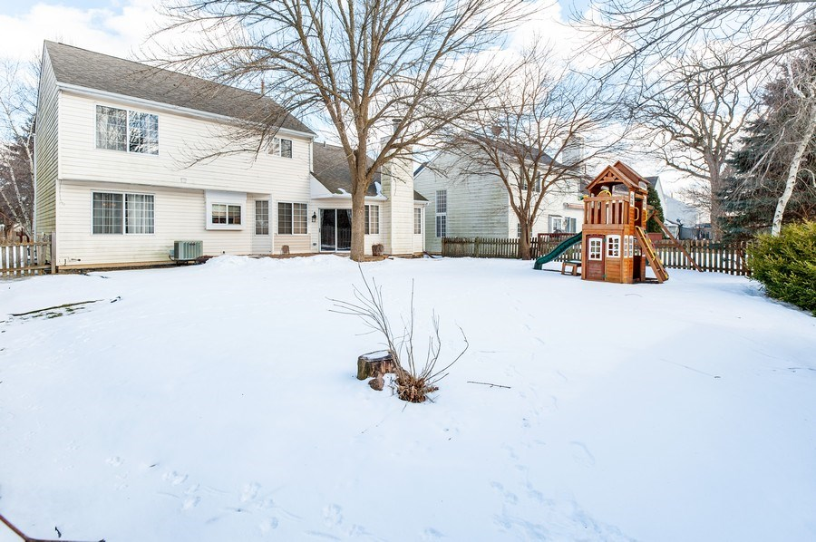 Real Estate Photography - 1068 Talbot Ln, Grayslake, IL, 60030 - Rear View