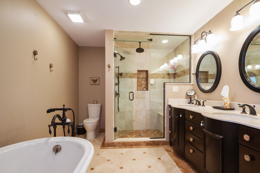 Real Estate Photography - 2108 Grant Street, Evanston, IL, 60201 - Master Bathroom