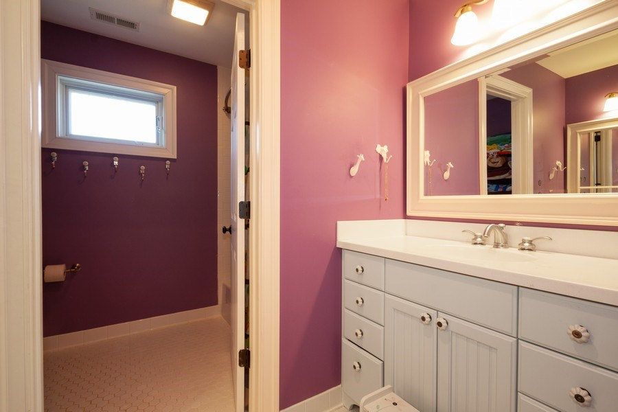 Real Estate Photography - 2108 Grant Street, Evanston, IL, 60201 - Hall Bathroom