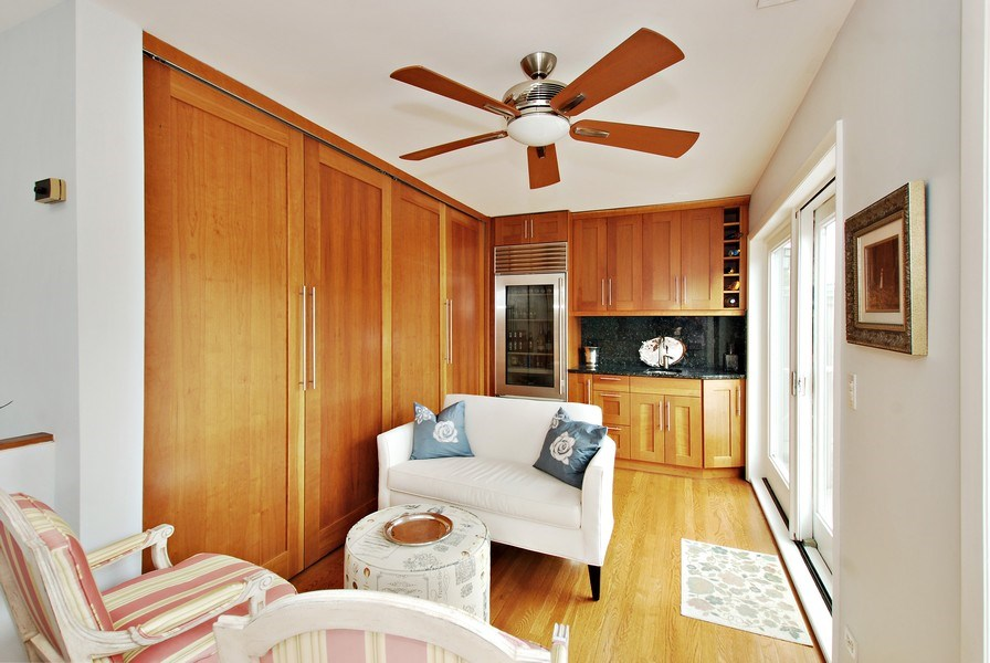 Real Estate Photography - 1217 W Webster, Chicago, IL, 60614 - 3rd Floor Laundry/Mechanical/Wet Bar Space leading