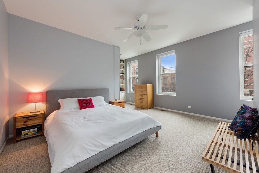 Real Estate Photography - 1217 W Webster, Chicago, IL, 60614 - Master Bedroom