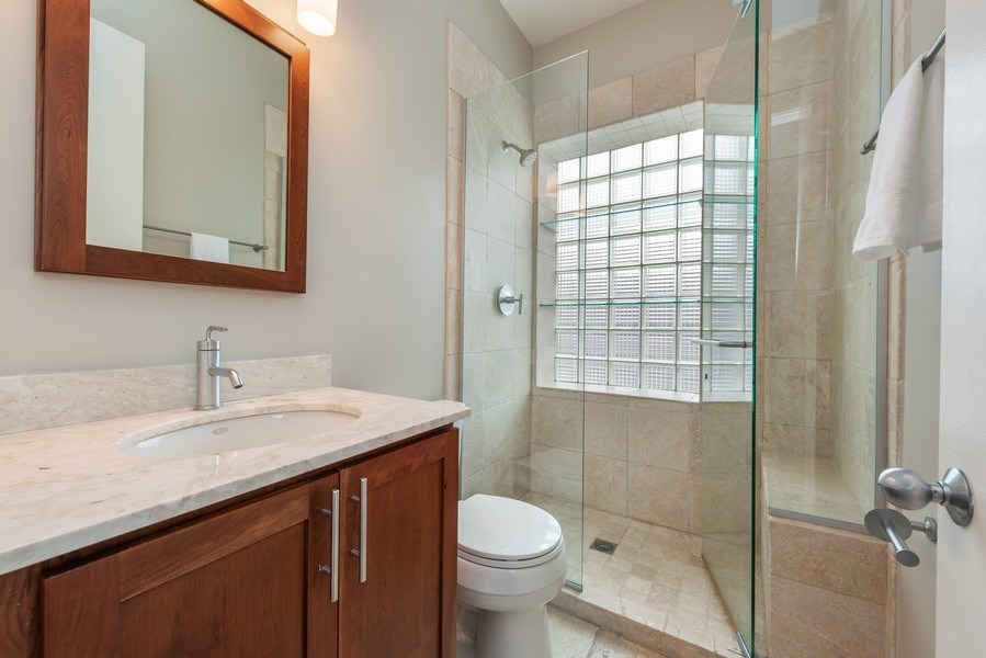 Real Estate Photography - 1217 W Webster, Chicago, IL, 60614 - 2nd Bathroom