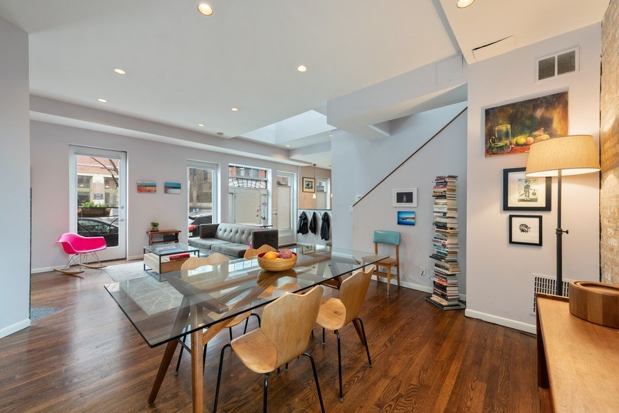 Real Estate Photography - 1217 W Webster, Chicago, IL, 60614 - Living Room / Dining Room
