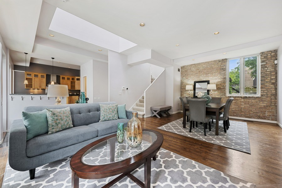 Real Estate Photography - 1217 W Webster, Chicago, IL, 60614 - Living Room/Dining Room