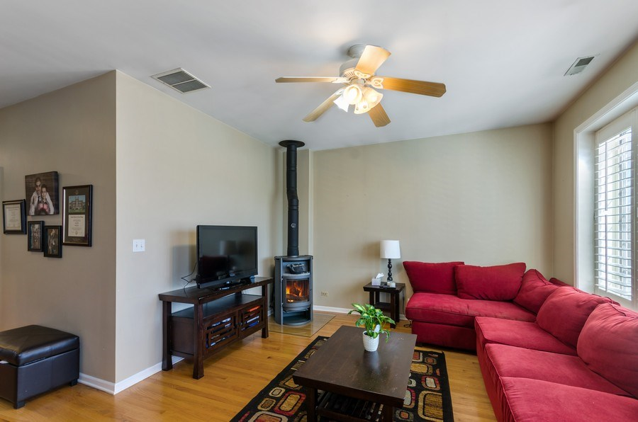 Real Estate Photography - 3642 S Union Ave, Chicago, IL, 60609 - Living Room Second Floor with Fireplace!