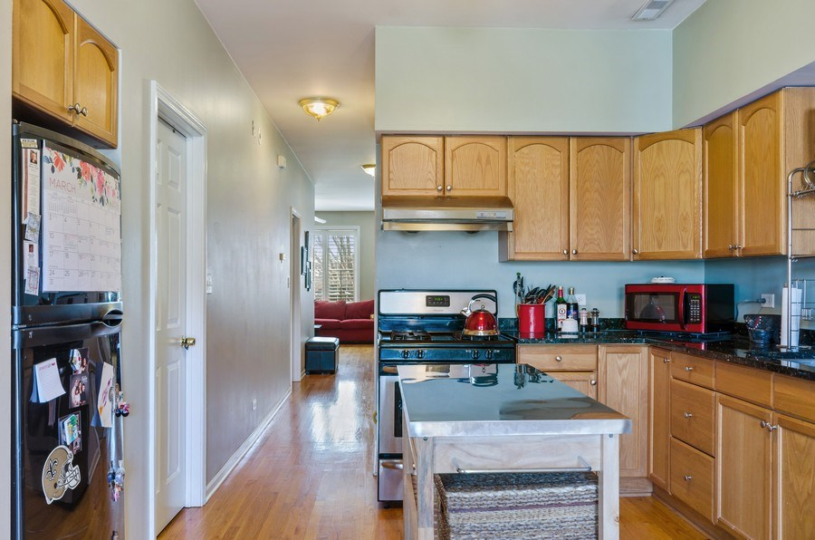 Real Estate Photography - 3642 S Union Ave, Chicago, IL, 60609 - Open Concept Second Floor Kitchen Area