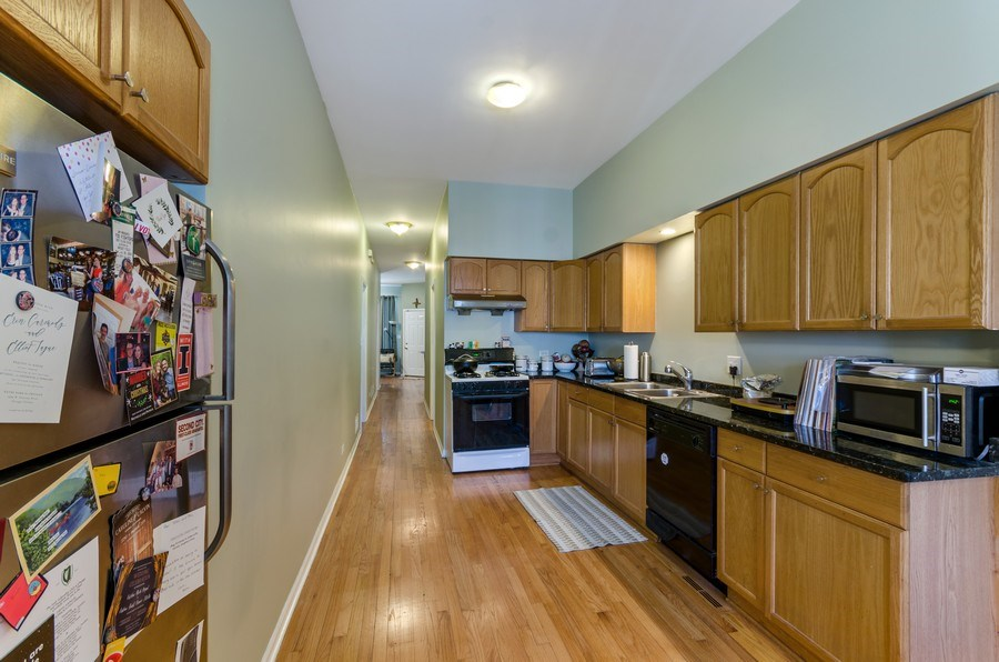 Real Estate Photography - 3642 S Union Ave, Chicago, IL, 60609 - Open First Floor Kitchen