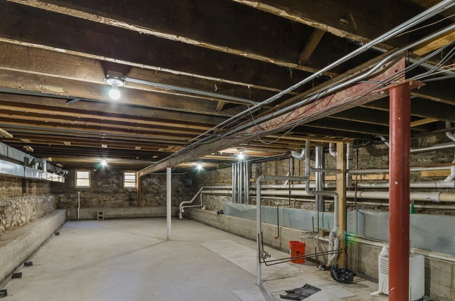 Real Estate Photography - 3642 S Union Ave, Chicago, IL, 60609 - Basement - 3rd Bathroom Plumbing installed