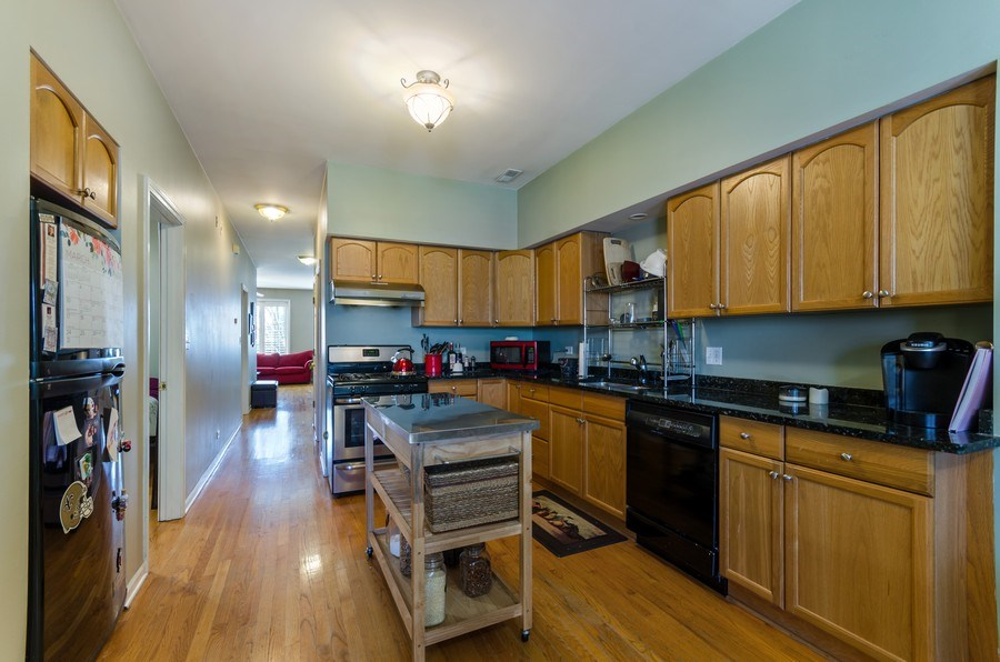 Real Estate Photography - 3642 S Union Ave, Chicago, IL, 60609 - Second Floor Kitchen