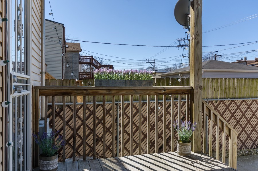 Real Estate Photography - 3642 S Union Ave, Chicago, IL, 60609 - Lovely First Floor Porch!