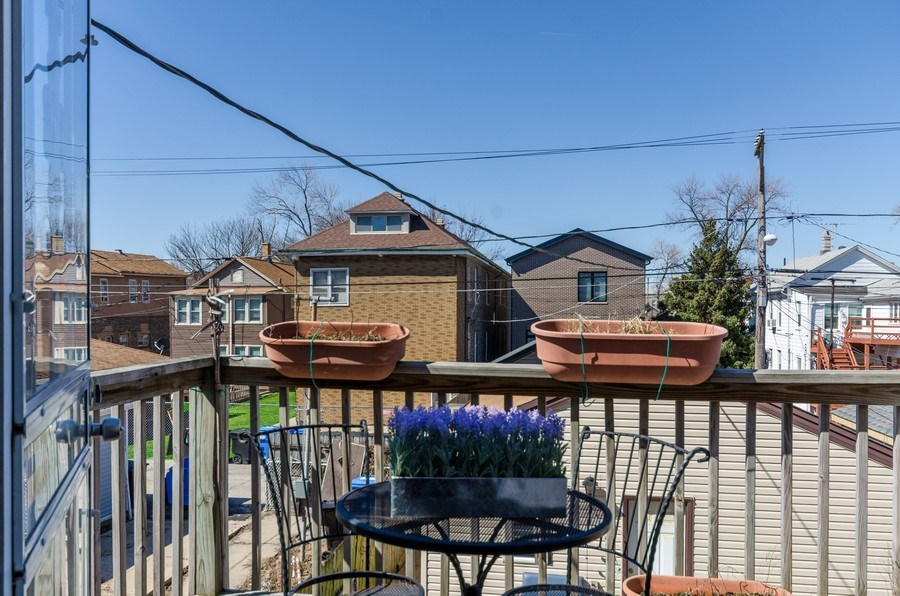 Real Estate Photography - 3642 S Union Ave, Chicago, IL, 60609 - Fantastic Second Floor Deck!