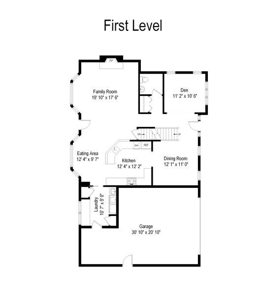 Real Estate Photography - 669 Buena Vista Dr, Glen Ellyn, IL, 60137 - Floor Plan