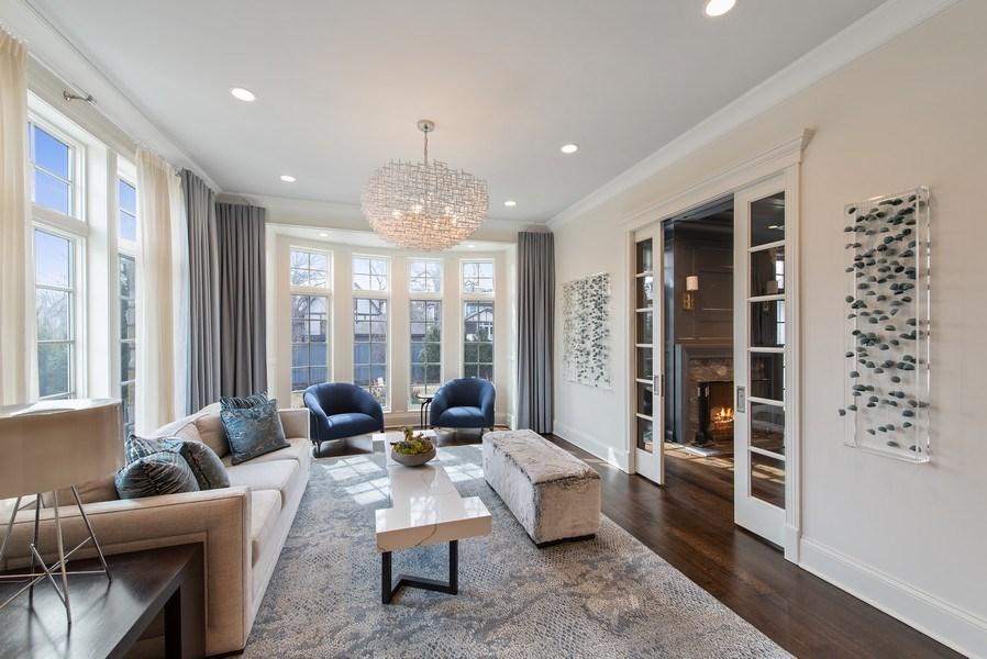 Real Estate Photography - 310 Myrtle St., Winnetka, IL, 60093 - Living Room