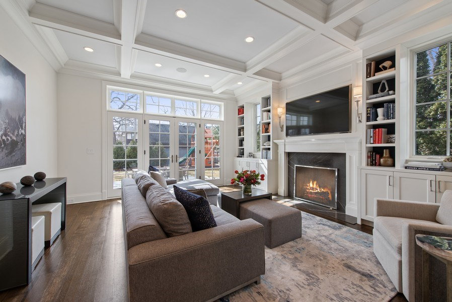 Real Estate Photography - 310 Myrtle St., Winnetka, IL, 60093 - Family Room