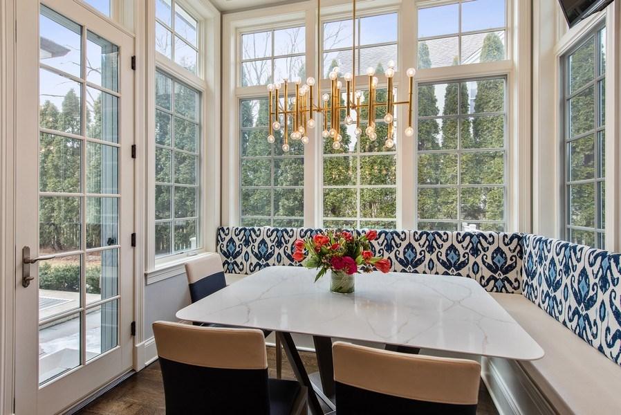 Real Estate Photography - 310 Myrtle St., Winnetka, IL, 60093 - Breakfast Area
